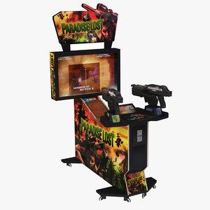 3D arcade weapon machine