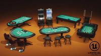 3D model pbr casino pack ue4