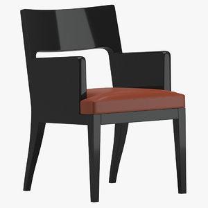 3D christian liaigre musc armchair model
