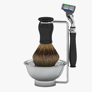 3D chatsworth shaving set