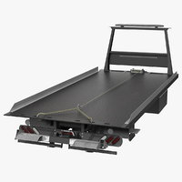 flatbed platform bed 3D model
