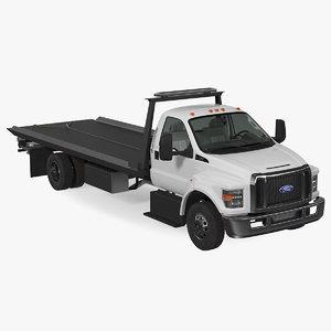 3D f650 tow truck model