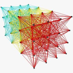neural network x1 3D model