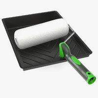 3D paint roller tray model