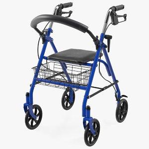 medical rolling walker seat 3D model