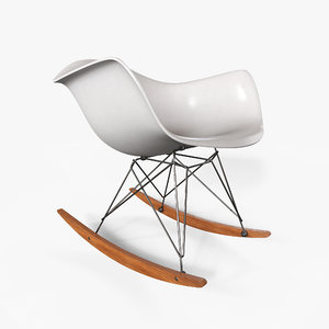eames rocking chair 3D model