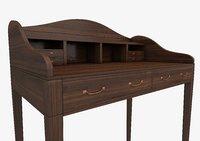 writing wooding desk furniture 3D model