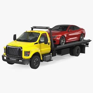 3D tow truck evacuated car model