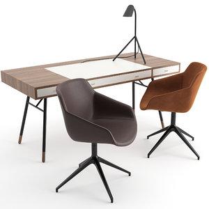 cupertino desk boconcept chair model