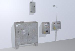 3D old control panels model