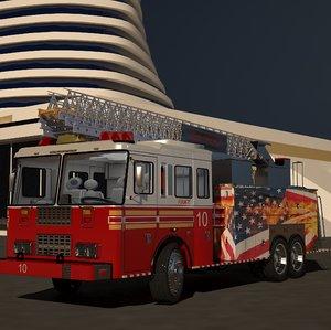 3D model truck pumper engine