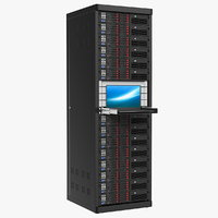 server rack notebook sliding 3D model