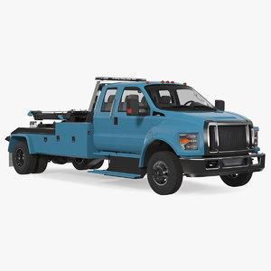 3D model heavy duty tow truck