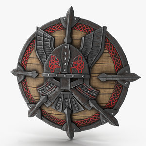viking shield v5 3D model