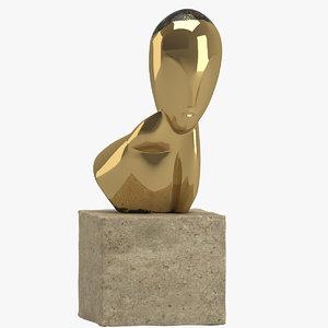 3D constantin brancusi sculpture