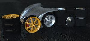 magnum wheel set 2019 3D model