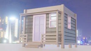 wood home 3D model