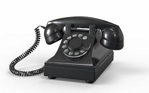 3D model retro phone