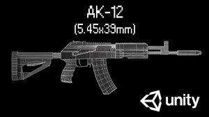 3D model ak-12 unity