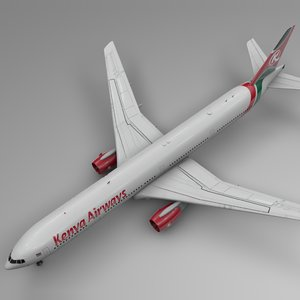 3D kenya airways boeing 777-300er