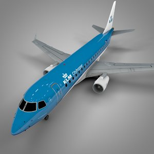 klm cityhopper embraer175 l550 model