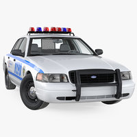 Ford Crown Victoria Police Car NYPD 2011 Rigged