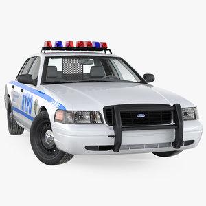 3D crown victoria police car