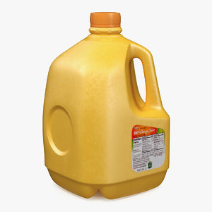 orange juice gallon bottle model