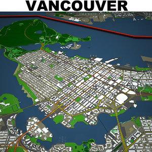 vancouver cityscape model