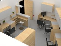 office administrative 3D model