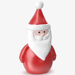 3D santa claus figurine model