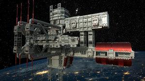 docked 3D model