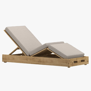 3D david sutherland armless chaise