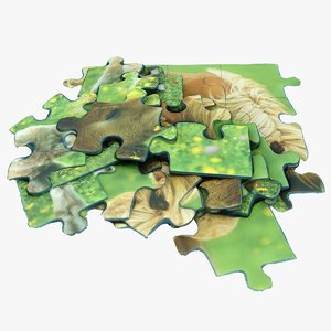 3D model puzzle games