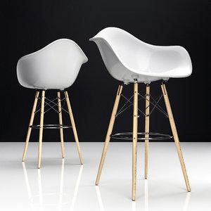 3D eames plastic chair