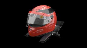 michael schumacher helmet 3D