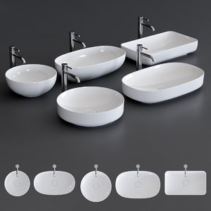 form washbasin ceramic 3D model