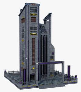 3D sci-fi building model