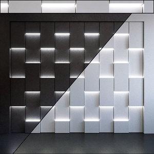wall panel set 91 3D model