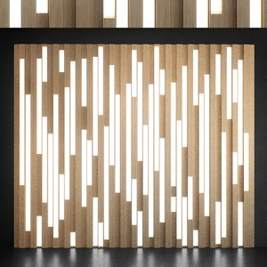 wall panel set 94 3D model