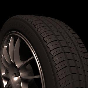bfgoodrich car wheel 3D model