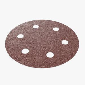 sandpaper holes pbr 3D model