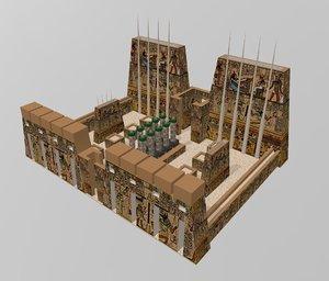 egypt temple karnak model