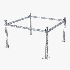 truss structure 3D model