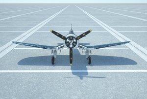 3D corsair f4u model