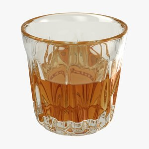 realistic whisky glass 3D model