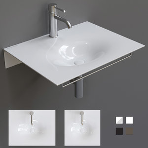 3D model veil washbasin wall-mounted