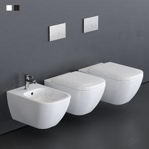 toilet happy d 2 3D model