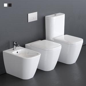 3D close toilet happy d model