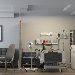 3D private ward model